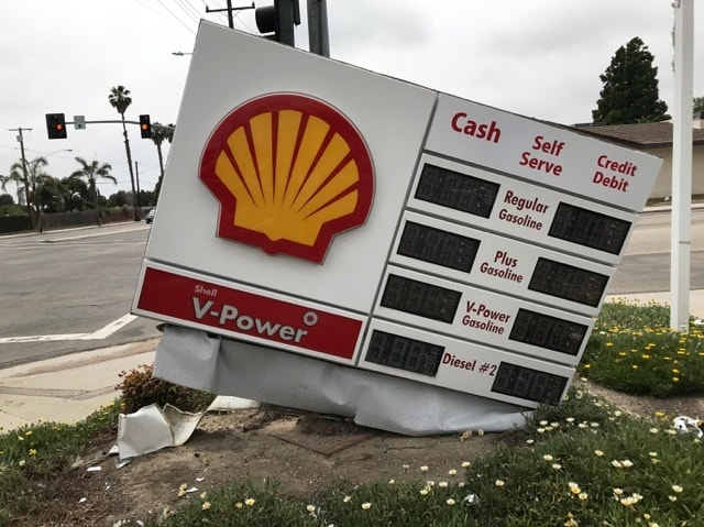 Shell Gas Station Price Signage