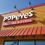 Popeyes Restaurant exterior signage